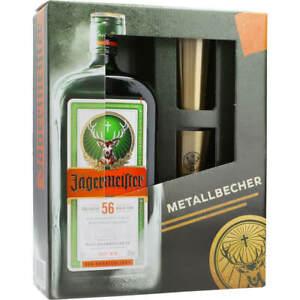 Jägermeister 35% 0,7 ltr.+Metall-Becher