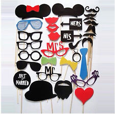 31PC Booth hat beard eye glasses paper Party Wedding fun Game Photograph PROP