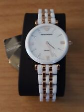 Emporio Armani Ceramic Rose Gold Ladies Watch AR1489 Brand New Free Shipping!