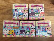 Lot of 5 Squeezamals Series Pets Scented Plush Animals Blind Box Bag