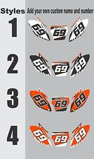 Number Plate Graphics for 2013-2017 KTM SX85 SX 85 Side Panels Decal
