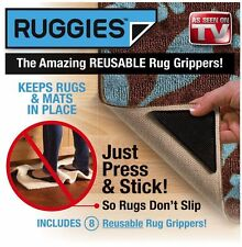Ruggies Rug Carpet Grippers – As Seen on TV Reusable Triangle Pads 4X PACK