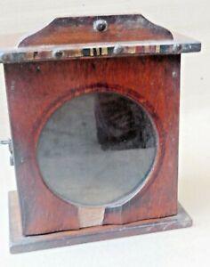 Old Wood Cabinet Mini Wall hanging Display showcase green Original Watchcase