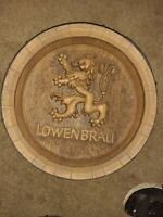 Lowenbrau Wall Barrel Keg Sign Beer Bar Decor