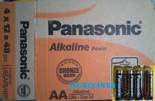 48 x Pila Alcalina AA LR6 1,5v PANASONIC Alkaline Power, Caja completa 12 packs