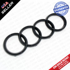 AUDI Gloss Black Front Grille Rings Badge Logo Emblem Decoration Q3 Q5 SUV A6 A7