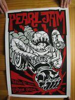 Pearl Jam Poster Silk Screen London 2009