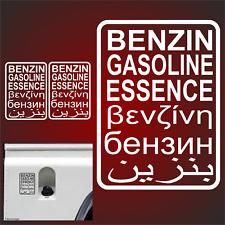 2x Aufkleber OFF ROAD Autoaufkleber Benzin Offroad 4x4 Gasoil Tank  Wohnwagen Fx