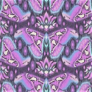 "Tula Pink EDEN  Atlas in Amethyst fabric   21"" X 44""  Cotton New"