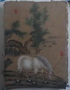 Qing dynasty style Chinese painting: Hand painted Horse Draw!