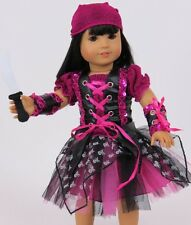"Lovvbugg Purple Punk Pirate Costume for 18"" American Girl Doll Clothes"