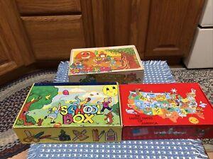 Lot 3 Vintage School Cardboard Box - Sterling Lebanon, General Box Co