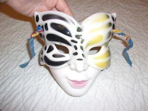 "Ceramic Wall Mount Mask Decorations   7"" x 7""   ZEST"