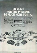 1977 ADVERT Monogram Model Scale Toys Jaguar Us Army Tank Navy Ship