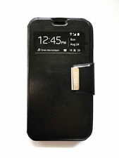 Funda cover View simil piel para Samsung Galaxy Core I8260 ventana negra