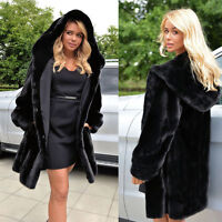 New Womens Winter Warm Outerwear Ladies Hoodie Parka Faux Fur Hooded Jacket Coat