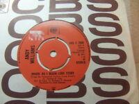 "Andy Williams – (Where Do I Begin) Love Story 1971 7"" CBS S 7020"