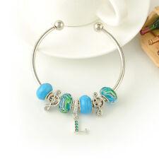 European style Handmade Adjustable Charm Beaded Bracelets DIY Open cuff Bracelet