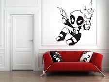 Wall Sticker Mural Decal Vinyl Decor Deadpool Heroes Hollywood  Cinema
