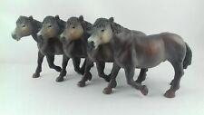 Lot 4 figurines chevaux / poneys PAPO 2003