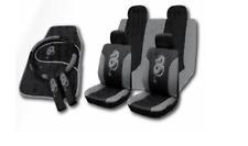 Voiture Universel Housses De Siège Ensemble Complet Sportif tous Gris Lavable Airbag Compatible