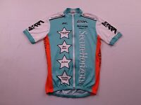 Kucharik Mens USA Secure Horizons RAAM Bike Cycling Jersey Sz L Full Zip Shirt