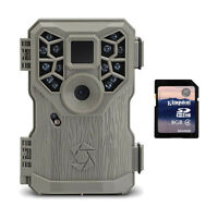 Stealth Cam 8MP 14 IR Emitter Hunting Game Trail Camera with Video + 8GB SD Card