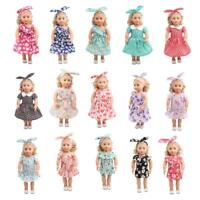 """Floral Dress Hair Band Clothes for 18/"""" American Doll  My Life Doll"""