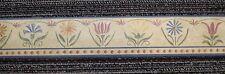Multi-Color Country Floral on Custard Colored Small Border by Fine Decor DC5029
