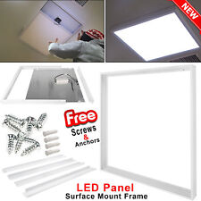 600x600 mm Ceiling LED Panel Light Surface Mount Frame Aluminum White Finish Box