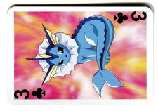 PROMO POKEMON JAPANESE CARD -CAJ- (42x62mm) 1999 N° 3 Trefle - VAPOREON AQUALI