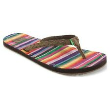 Sanuk Poncho Viva Women's Sandals Brown Size 6