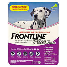 Frontline Plus Flea and Tick Dog Treatment 45-88 lb, 7+1 Doses (1130)