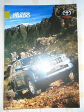 Toyota Land Cruiser Prado brochure Oct 2011 South African market
