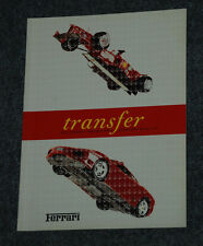 "Ferrari Factory Press Media Brochure ""Transfer""   1688/01  English Version"
