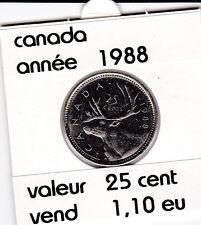 canada 25 cent  1988  voir description