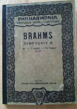 Brahms Symphonie Nr 3 taschenpartitur