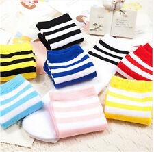 Baby Boys Girls Toddler Kids Knee High Length Cotton Stripes School Sports^Socks