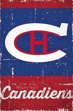 MONTREAL CANADIENS ~ SCRATCH LOGO 22x34 NHL National Hockey League NEW/ROLLED!
