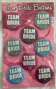 Team Bride Button's Spencer's Gifts Set of 8