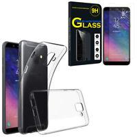 """Etui Coque Silicone Gel UltraSlim Samsung Galaxy A6 (2018) 5.6"""" + Film Verre"""