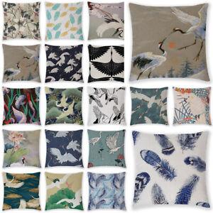 18'' Oriental Mythological Stork Printed Cushion Cover Throw Pillow Case Decor