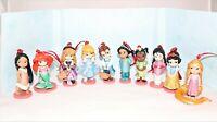 Disney Deluxe Princess Animators Collection Christmas Ornaments Figures 10pc Set