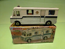 DINKY TOYS 280 MIDLAND MOBILE BANK - MOBILE HOME - NEAR MINT IN BOX