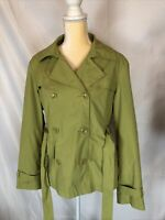 Giacca Womens Raincoat Green Large