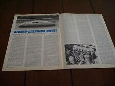 MERCEDES BENZ C111/3 DIESEL RACE CAR   ***ORIGINAL1978 ARTICLE***