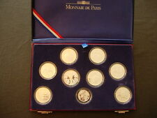 COFFRET COUPE DU MONDE DE FOOTBALL 1998 9 PIECES ARGENT 10 FRANCS 22,2 GR BE FDC