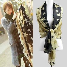 Nouveau! hot! fashion mousseline imprimé étoile foulard châle écharpe longue et très doux! UK!!!