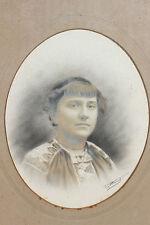 Photo Encadree Ancienne De Marie Le Hars - Bretagne - Cadre en bois mouluré