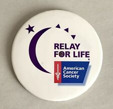 RELAY FOR LIFE American Cancer Society SURVIVOR STARS HOPE Light Up Button Pin